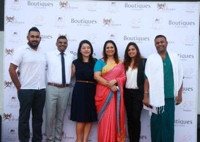 Kevin, Harshana, Ayumi, Druvi, Antonio & Thilanka ( Past & present Aman Team)